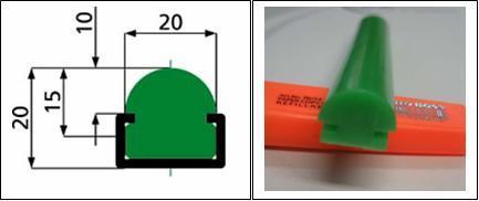 Грибовидный пластиковый профиль для стола сборки, грибовидный плинтус, защитный профиль для стола сборки, профиль Урбан на сборочный стол, покрытие для монтажного стола против царапин