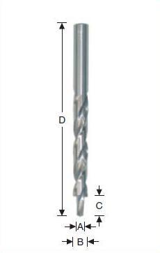 двухступенчатые сверла по пластику, двухступенчатые сверла по алюминию
