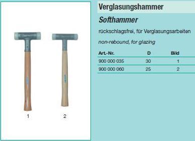 молоток для остекления пластиковый, молоток 30мм с полиуретановой головкой