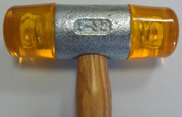 молоток для остекления полиуретановый со сменными бойками, молоток с пластмассовым бойком 32мм