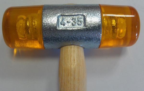 молоток для остекления, молоток стекольный, молоток с пластмассовым бойком 35мм